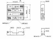 Ladeschale 4x Akku Micro (AAA) (LR03) ikl. Lötösen