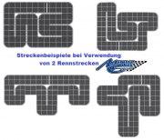 Rennbahnset Mini-Z Urethane, 2,70x2,10 m, 30x30cm