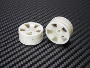 PN Racing Mini-Z Buggy Lazer S5 Front Wheel White (2pcs)