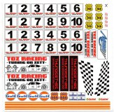Startnummer-Set 1-10 TOZ-Racing für Mini-Z