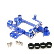 Motorhalter Mini-Z Formel 1 Alu blau -Höhenverstellbar