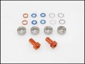 Spurverbreiterungs-Satz Mini-Z VA Alu orange 0-3 mm