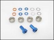 Spurverbreiterungs-Satz Mini-Z VA Alu blau 0-3 mm