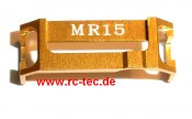 Spurstangenhalter Alu gold MR015