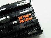 Reparaturplatte T-Bar Befestigung Alu orange PN-Racing
