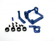 Motorhalter Mini-Z PN-Racing RM/MM Alu blau V3 LCG
