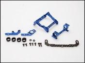 PN Racing Mini-Z 93-102mm Multi Motor Mount (blau)