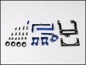 PN Racing Mini-Z 94mm Carbon Fiber Motor Mount (blau) RM