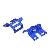 Batterieclip Mini-Z MR03 Alu blau für LiFe und Rundzellen