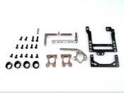 PN Racing Mini-Z 98mm Carbon Fiber Motor Mount (silber) MM