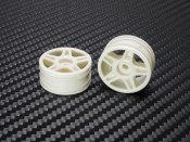 PN Racing Mini-Z Buggy Lazer Star Front Wheel White (2pcs)