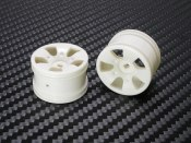PN Racing Mini-Z Buggy Lazer S5 Rear Wheel White (2pcs)
