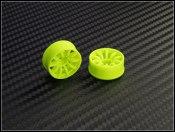 Felgen Paar Front 10 Speichen PN-Racing gelb Offset 1mm