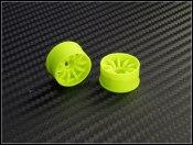 Felgen Paar Rear 10 Speichen PN-Racing gelb Offset 2mm