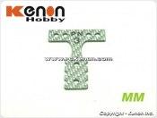 PN Racing Mini-Z MR03 MM Silver Carbon T-Plate #3