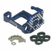 Motorhalter Alu MM blau für Mittlemotor für Schraubbefestigung