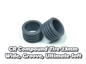 CR Compound Tire 23mm, Wide, Groove, Ultimate Soft (5 Deg)