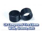 CR Compound Tire 23mm, Wide, Groove, Soft (12 Deg)