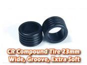 CR Compound Tire 23mm, Wide, Groove, Extra Soft (8 Deg)