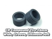 CR Compound Tire 24mm, Wide, Groove, Ultimate Soft (5 Deg)