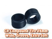 CR Compound Tire 24mm, Wide, Groove, Extra Soft (8 Deg)