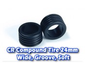 CR Compound Tire 24mm, Wide, Groove, Soft (12 Deg)